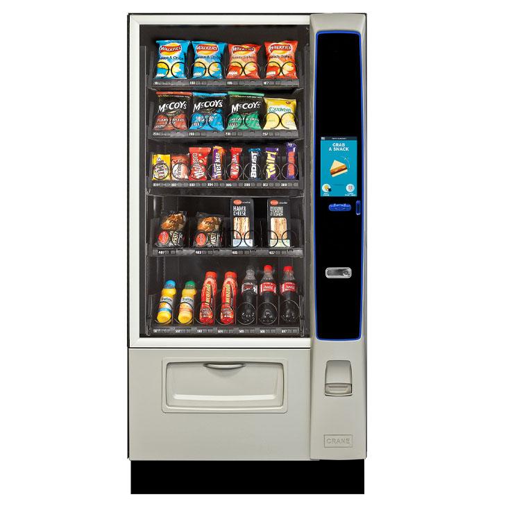 Crane Merchant Media 4 snack, food and drink vending machine