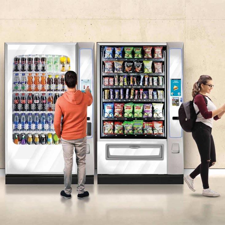 Crane Merchant Media 6 snack machine in location