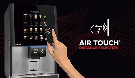 air touch contactless drink selection
